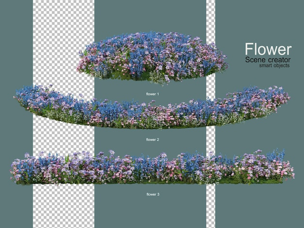 Various flower gardens