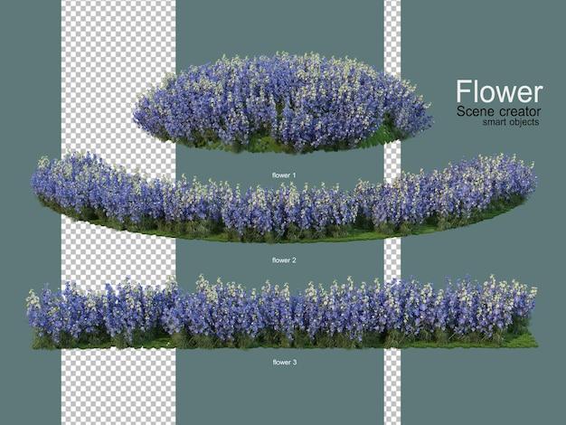 다양한 꽃밭