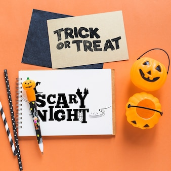 Various halloween covers mockup