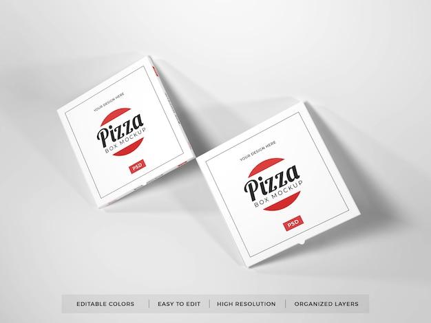 Мокап различных реалистичных коробок для пиццы