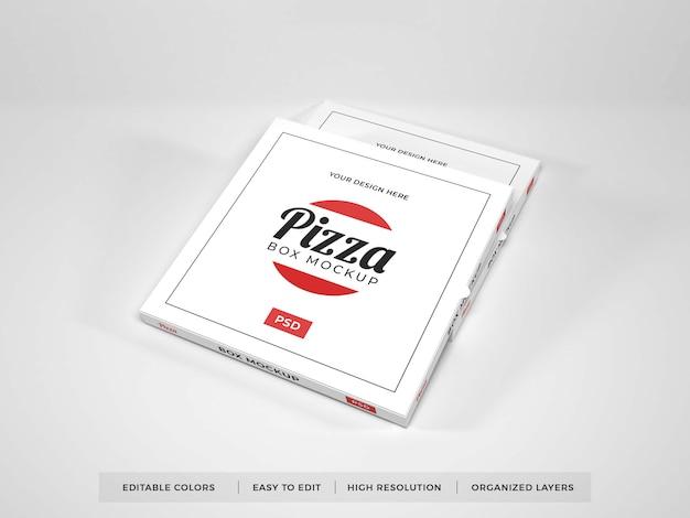 Various realistic pizza boxes mockup
