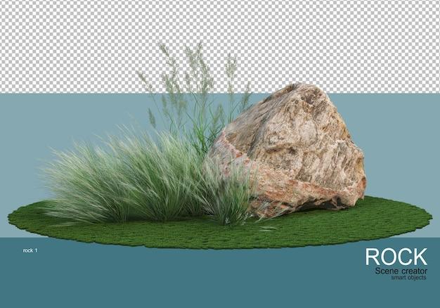 다양한 바위와 풀