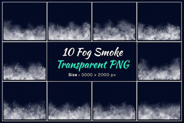 Various shapes of fog smoke collection