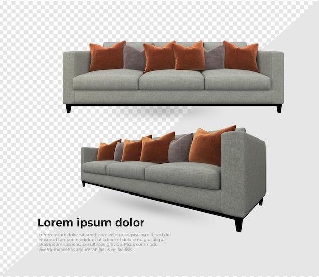 さまざまなソファと枕の装飾デザイン