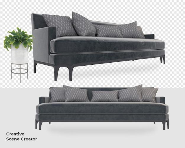 Различный диван, кресло, украшение, мебель, макет Premium Psd