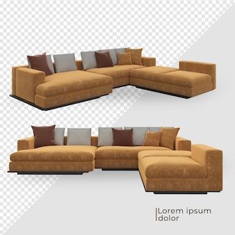 Различный дизайн украшения желтого дивана