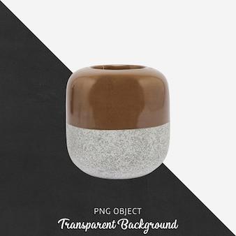 Vase or flowerpot on transparent