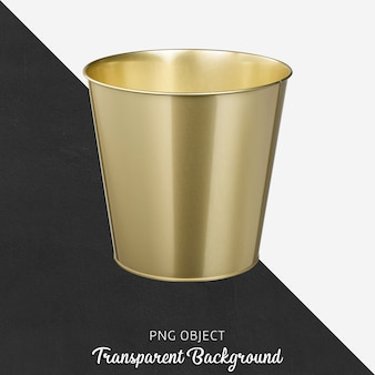 Vase or flowerpot on transparent