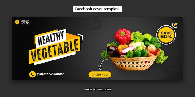 Vegetable facebook cover template