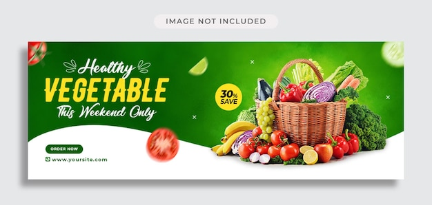 Vegetable social media promotion and facebook cover template
