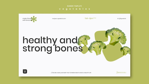 Шаблон баннера концепции овощей