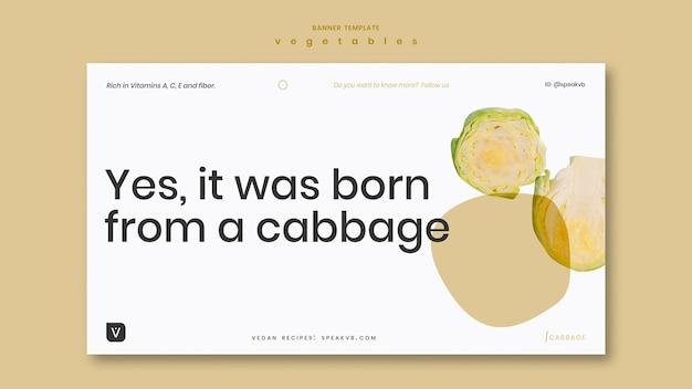 Modello di banner concetto di verdure