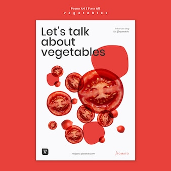 Vegetables concept poster template