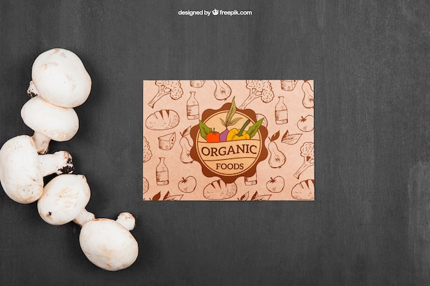 Vegetables mockup with mushrooms