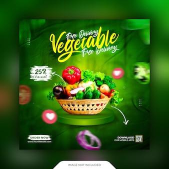 Vegetables social media promotion and instagram post  template