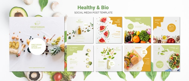 Vegetarian restaurant social media post template