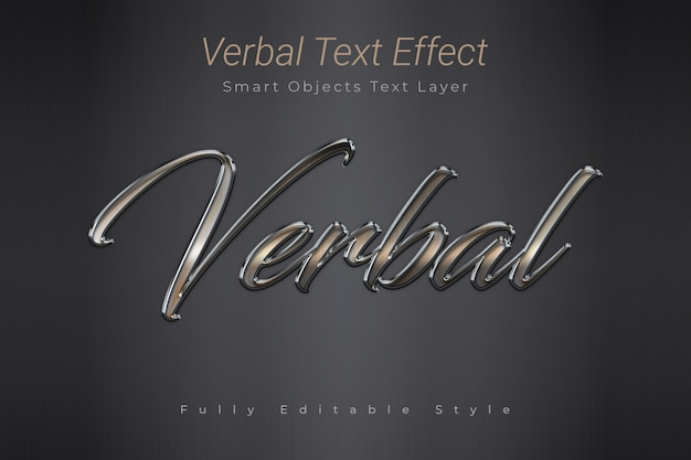 Verbal text effect