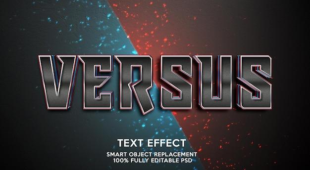 Versus text effect template