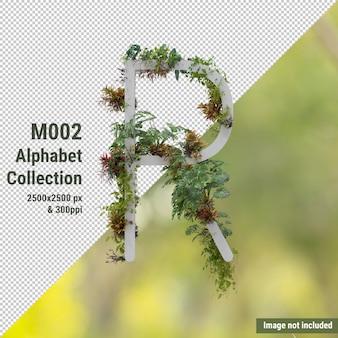 Вертикальный алфавит красного садового дерева