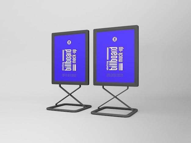 Mockup di cartelloni pubblicitari verticali