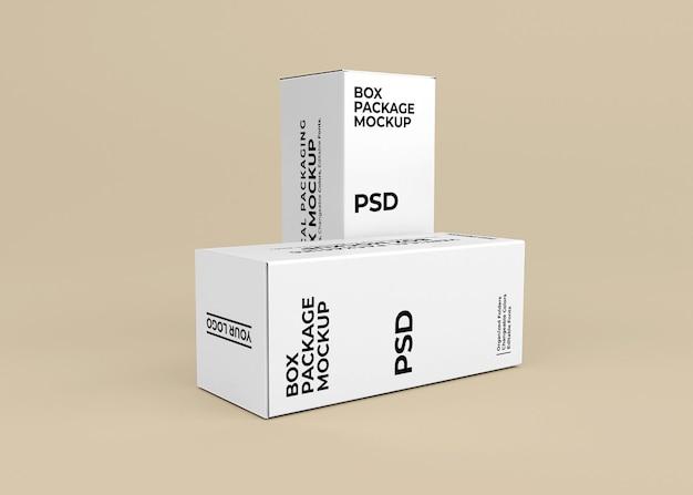 제품 포장용 수직 상자 모형 디자인