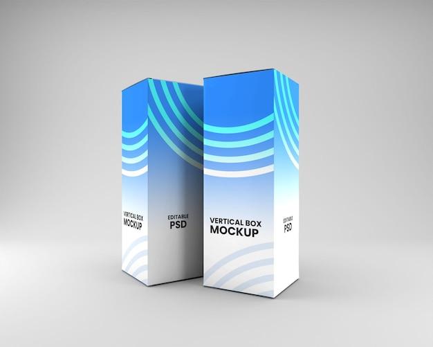 Макет упаковки вертикальной коробки