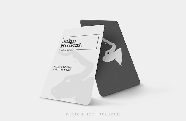 Vertical business card concept mockup