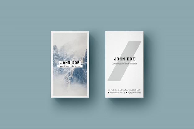 Vertical business card mock up