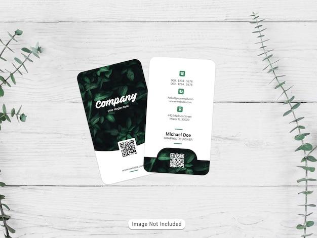 Vertical business card mocku
