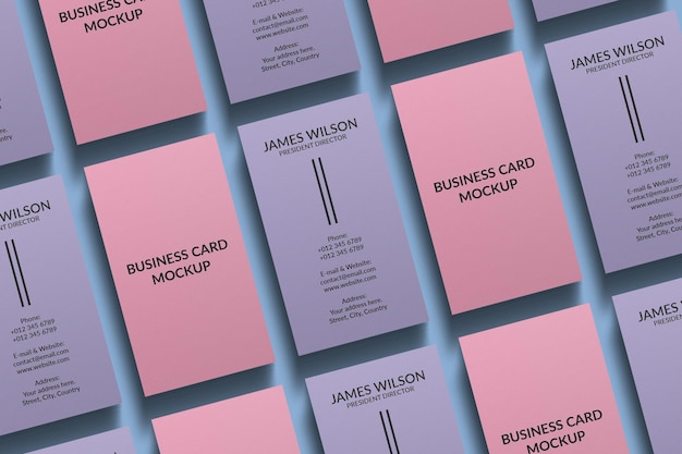 Vertical business card mockup design