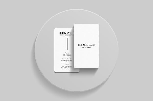 Vertical business card mockup design
