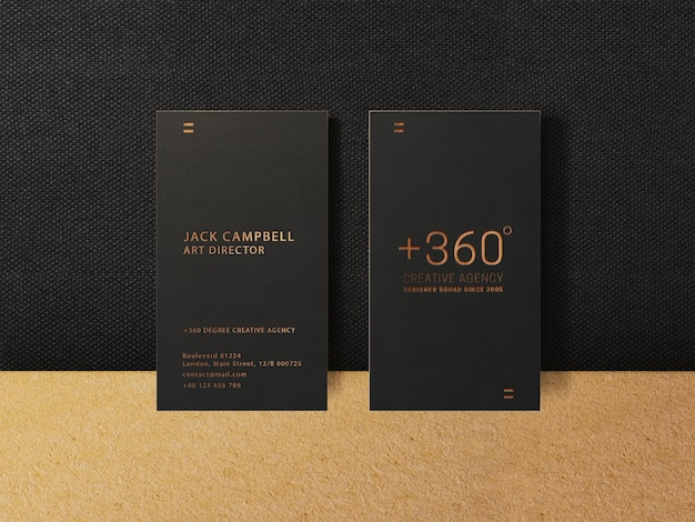 Vertical business card mockup template