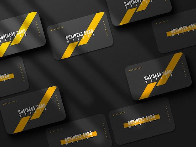 Вертикальный макет визитной карточки