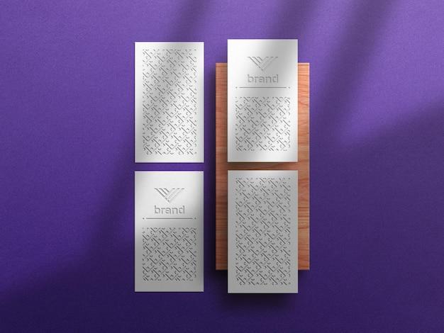 Вертикальный макет визитки