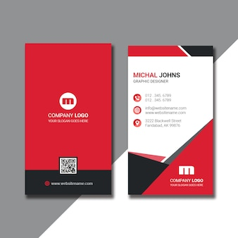 Vertical business card new design