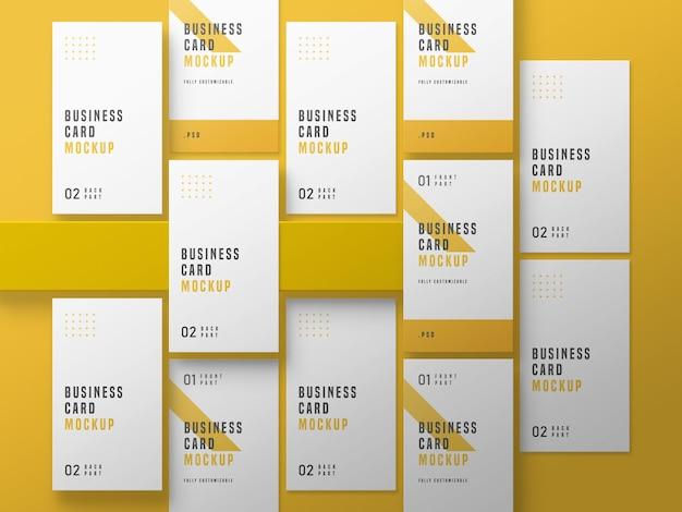 Вертикальный макет набора визиток