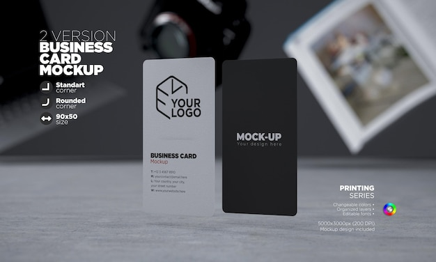 Vertical business cards template