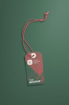 Vertical card tag and string mockup