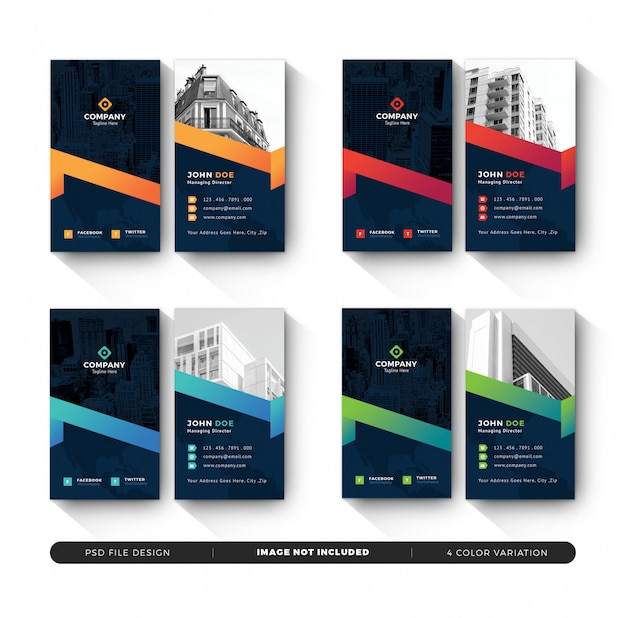 Vertical creative business card templates
