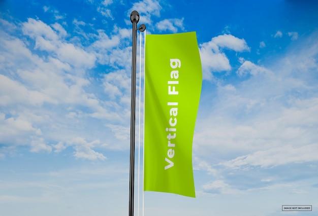 Vertical flag mockup design