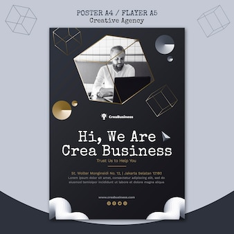 Vertical flyer for business partnering company