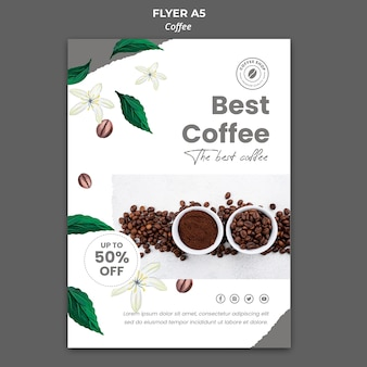 Vertical flyer for coffee Free Psd