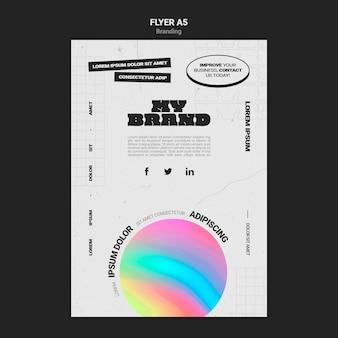 Вертикальный флаер для брендинга компании в форме разноцветного круга