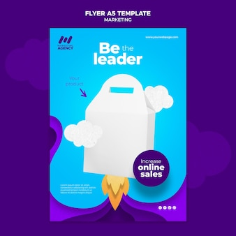 Вертикальный флаер для маркетинговой компании с продуктом