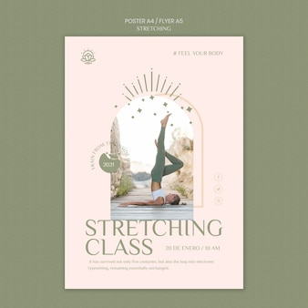 Volantino verticale per corso di stretching