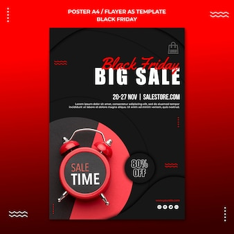 Vertical flyer template for black friday sale