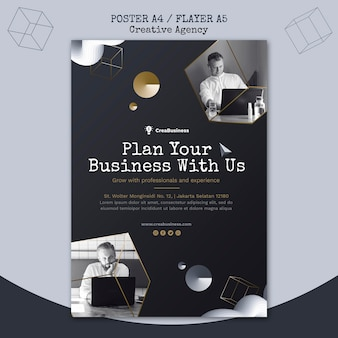 Vertical flyer template for business partnering company