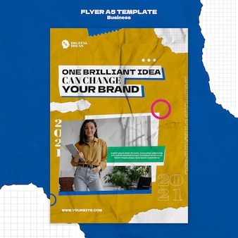 Vertical flyer template for creative business solutions