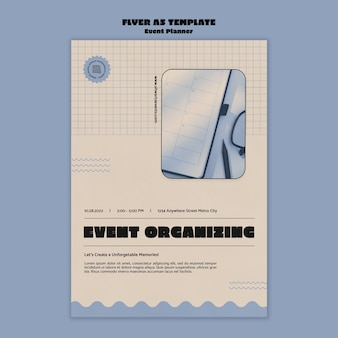 Vertical flyer template for event planner