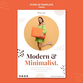 Vertical flyer template for fashion shopping store